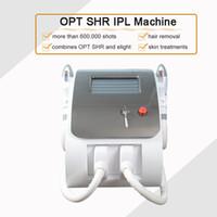 무료 배송 OPT SHR IPL 영구 머리 제거 Elight 피부 회춘 2 핸들 600,000 촬영 Opt SHR 뷰티 머신