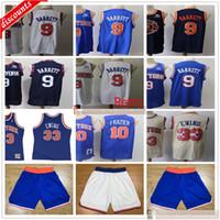 2020 Yeni Basketbol RJ 9 Barrett Formalar Ucuz Retro 10 Walt 33 Patrick Frazier Ewing Formalar En İyi Kalite Mavi Beyaz Şort