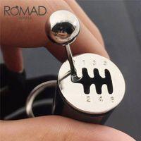 Chaveiros Romad Car Engrenagem Keychain Keychain Tipo Modificado Chaveiro Chaveiro Corrente de Metal Keyring Car Car-Styling Multi Cor Jóias Homens