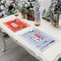 Natal gnomo placemats flocos de neve mesa de mesa anti-derrapante calor resistente ao calor colante festa cozinha jantar decoração jk2010xb