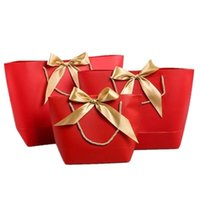 Große Größe Geschenkbox Verpackung Gold Griff Papier Geschenk Taschen Kraftpapier mit Griffe Hochzeit Baby Dusche Geburtstagsfeier Favorie DHE3368