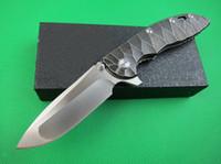 High End Classic XM-18 Flipper Faltklinge Messer D2 Satin-Drop-Punkt-Klinge TC4 Titan-Legierung Griff Kugellagermesser