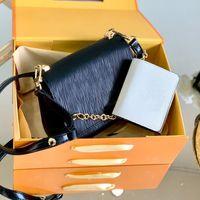 Corrente Crossbody Bag Womens Bolsa Carteiras Moda de Alta Qualidade Genuíno de Couro Mensageiro Bloqueio Bolsa Plana Bestselling Artwork