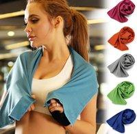 10 farben eiskaltes handtuch 30 * 90 cm doppelschichten schnell trocken weich atmungsaktiv kühltuch sommer anti sonnenstroke sport tüchertücher kostenloser versand