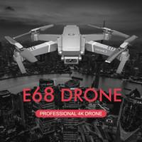 E68 بدون طيار 4K المهنية متعددة البطارية أطول بطارية بطارية الحياة القابضة لفتة صورة / فيديو rc طوي كوادكوبتر 2020 لعبة