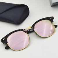 Qualité Tortoise cadre lunettes de soleil Hommes Femmes Véritable Verre Verres Acétate Classic Retro Lunettes Sun Verres Conduite UV400 Oculos de Sol Coffret Coffret
