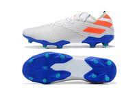 Clases de fútbol para hombre a prueba de agua Nemeziz 19.3 Lacess FG 19 + X Messi Chaussures Hommes High Tobillo Zapatos al aire libre Botones de fútbol Tamaño 39-45