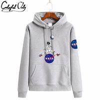 INS Sweat Sweats Hoodies Automne et hiver Nouvelle NASA Tide Sweater Tête de pull et Cachemire S-4XL S218