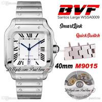 Best Edition BVF 40mm Stahlgehäuse Weißes Zifferblatt Miyota 9015 Automatische Herrenuhr Schnellschalter Links Edelstahl Armbanduhren PureTime A1