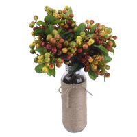 Dekoratif Çiçekler Çelenk Yanlış Yapay Meyve Berry Blueberry Dekor Düğün Buketleri İpek -Tak Çiçek