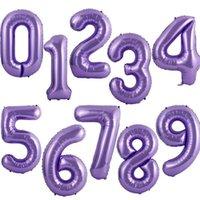 40 pouces grand nombre de ballons 1 2 3 4 5 nombre chiffre d'hélium ballons de ballons de ballon de baby-douche fête d'anniversaire de mariage de mariage fournitures FFE1612