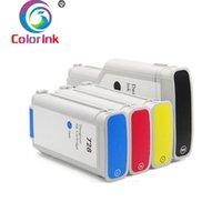 Cartucce di inchiostro Coloink 728 Cartuccia per la stampante Designjet T730 T830 300ml Nero 130ml Color Pigment Dye