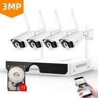 Jooan 8CH Kablosuz CCTV Sistemi 1536 P NVR WiFi IR-Cut Açık 3MP IP CCTV Kamera Güvenlik Sistemi Video Gözetim Kiti LJ201208