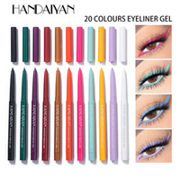 Dropshipping New Handaiyan Creme Gel Doublure 20PC / Set Eyeliner Gel WaterProff Crayon Eye En stock avec cadeau