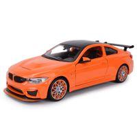 Maisto 1:24 BMW M4 GTS Car Sports Static Static Cast Véhicules Modèle de collection Modèle de voiture Jouets Y1201