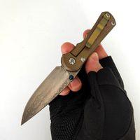 Sınırlı Özelleştirme Sürümü Chris Reeve Katlanır Bıçak Inkosi Eloksal Titanyum Kolu High End Şam Bıçaklar Mükemmel Cep EDC Taktik Kamp Araçları