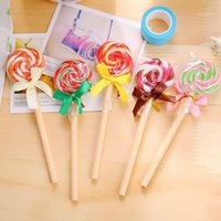 24pcs lot Kawaii Lollipop design 0. 5mm black ink Ballpoint p...