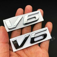 2x métal chrome v6 vntage coffre de voile hayon de fender emblème badge autocollant décalque