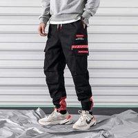 BWG Çok Cepler Kargo Pantolon Erkekler 2019 Hip Hop Joggers Yeni Tasarım Moda Streetwear Kaykay Spor Harem Pantolonlar1