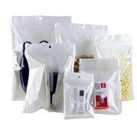 클리어 + 화이트 냄새 증명 Mylar 플라스틱 지퍼 잠금 가방 runtz 포장 opp 대량 선물 패키지 PVC 가방 자기 씰링 헐렁하는 bagies l 크기