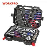 WorkPro 123PC Mixed Tool Set Mechanics Werkzeug Set Ratsche Schraubenschlüssel Sockel Set Neues Design T200916