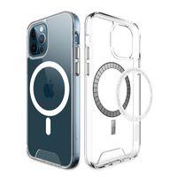 Chargeur sans fil Chargeur sans fil TPU PC Couverture arrière transparente pour iPhone 7 8 8plus 11 Pro Max