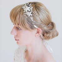 Жемчужные золотые серебряные свадебные аксессуары свадебные головные уборные блестящие хрустальные волосы гребень элегантный банкетный наук для женщин AL7773
