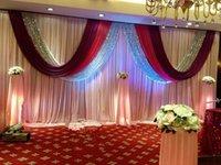 10FT * 30FT (3M * 6M) cortinas de telón de fondo de boda cortina cortina con swag de lentejuelas para evento Fiesta de banquete Fondo de escenario B1