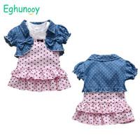 مجموعات الملابس الصيف الرضع طفل طفلة الملابس مجموعة لطيف القطن أكمام الأميرة اللباس الترحيل سترة ولادة ملابس