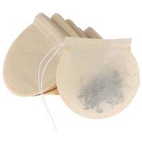 100 Adet / grup Çay Araçları Filtre Torbaları Doğal Unblected Kağıt Demlik Odun Hamuru Malzemesi Gevşek Llaf Poşetleri Çorbası Için