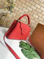 CAPUCINES M48870 Moda Tote Tasarımcı Lüks Çanta Çantalar Alışveriş Messenger Alışveriş Çantası Omuz Çantası Cepler Kılıf Kozmetik Çantası
