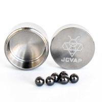 Neue Ankunft JCVAP Das Rio Titan Jar mit 4mm SIC Terp Pearls Container Metallkiste für Rubinkugeln SIC Quarz Perlen Einsetzen Slurper
