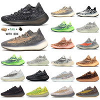 yeezy boost 380 v3 Kanye West 2021 Top  yezzy yeezys Factory yecheil Quality Men Sneakers Alien Mist Black Camo chaussures Women Running Shoes Receipt Socks Keychains