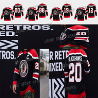 Chicago Blackhawks Jersey 2020-21 Retro retro 19 Jonathan Toews 88 Patrick Kane 2 Keith 00 Clark Griswold 12 Alex Debrincat Hockey Jerseys