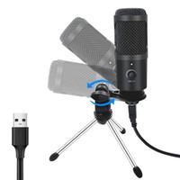 USB Microfono PC Condensatore microfono Vocals Vocals Recording Studio Microfono per YouTube Video Skype Chating Game Podcast Supporti PS4 Game