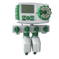 AQUALIN Автоматическая 4-ZOOL Ирригационная система полива Таймер Садовой Водный Таймер Управляющий Система с 2 Соленоидным клапаном # 10204 201203