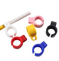 Cigarette Rings silicone Smoking Ring Stent Tobacco Joint Holder Finger Protector Cigarette Tools 6 color mini order 100pcs free shipping