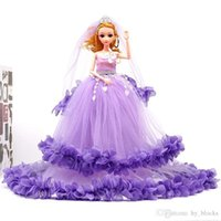 Long Wears Dress Gift Doll Princess Barbie Party Clothes Wedding Dress Accessories Outfit Set 40cm Kids Toy Girl Evening Adadh