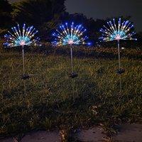 민들레 조명 체인 태양 에너지 문자열 조명 지상 플러그 불꽃 놀이 방수 새로운 안뜰 장식 램프 문자열 22QK3 K2