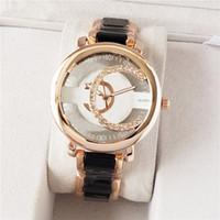Mode Marke Uhren Frauen Männer Mädchen Aushöhlen Kristall Stil Stahl Metal Band Quarz Armbanduhr CH07