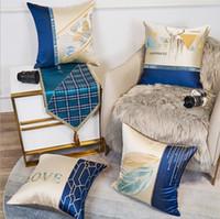 النمط الشمال نمط وسادة القضية الرئيسية مكتب أريكة وسادة غطاء تقليد الحرير مزدوجة قطعة الجاكار وسادة يغطي
