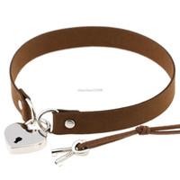 Ciondoli a forma di cuore della collana del choker della serratura della serratura della serratura del cuore della serratura con la collana delle donne chiave gioielli di modo e Sandy New