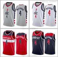 جديد موسم كرة السلة واشنطن فريق 4 Westbrook أسود أحمر أبيض 2020-21 مدينة جيرسي