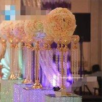 10pcs) 90 cm alti wedding wedding waddway stand crystal flower stand stallo di cristallo decorazione di cristallo
