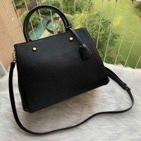 Designer Luxo Satchel Messenger Bolsa De Couro Strim Handles Com Ombro Strap Crossbody Bag Saco Francês