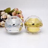 20pcs 15g 30g 50g Acryl Gold Silber kosmetische Creme Jar Rechteck Diamon Form Graceful Kugel Behälter Flasche