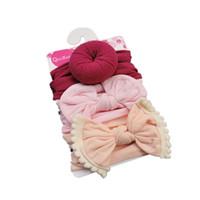 طفل الفتيات عقدة الكرة دونات رباطات القوس 3 قطعة / المجموعة الرضع مرونة hairbands الأطفال عقدة أغطية الرأس الاطفال اكسسوارات للشعر CCA2797