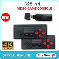 HD 4 K Retro Mini Video Oyun Konsolu 628 Oyunlar Ile 2 Çift Taşınabilir Kablosuz Denetleyici HDTV Video Oyunu Için