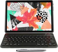 """Düz ekran tablet 10.1 """"inç tabletler kablosuz klavye kılıfı stylus kalem dört çekirdekli Google GMS sertifikalı 8500 mAh 4G + 64g"""