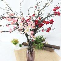 Dekoratif Çiçekler Çelenk Yapay Kiraz Çiçekleri Erik Plastik Ağacı Şube Düğün Dekorasyon DIY Ev Bahçe Noel Dekor Çince